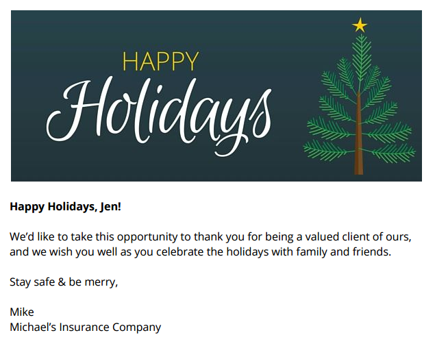 holiday email template and banner images