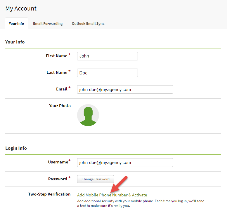 AgencyBloc Two-Factor Authentication