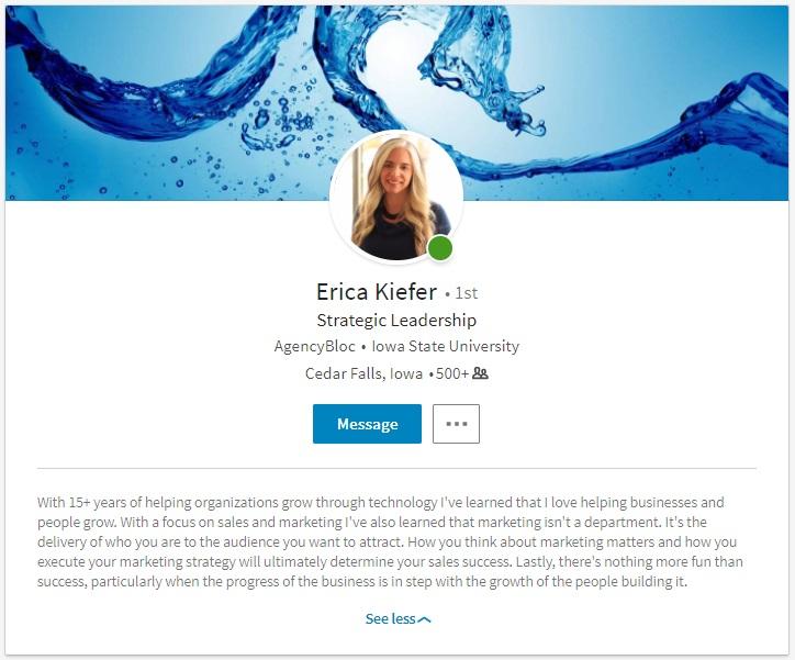 Erica Kiefer LinkedIn