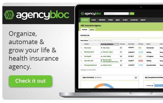 Organize, Automate & Grow Your Life & Health Insurance Agency with AgencyBloc
