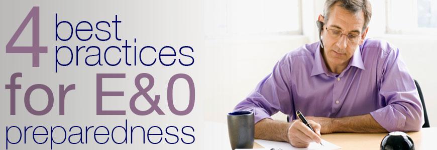 Practices for E&O Preparedness