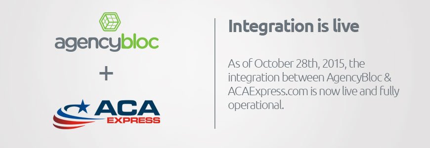 ACA Express + AgencyBloc Integrate