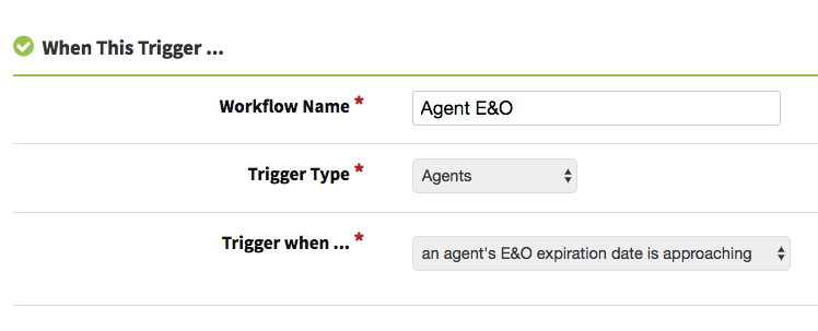 Agent E&O expiration automated reminder