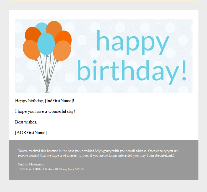 Happy Birthday Emails