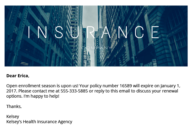 Open Enrollment Email Templates for Insurance Agents