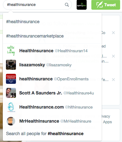 health insurance twitter search