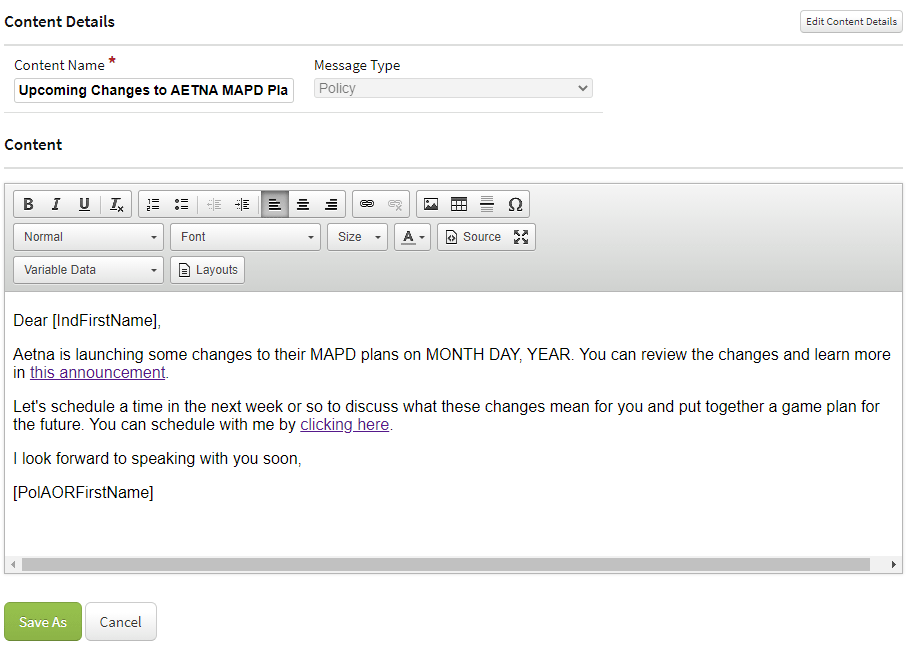 Sales-focused email promotion
