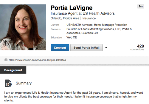 Portia LaVigne LinkedIn