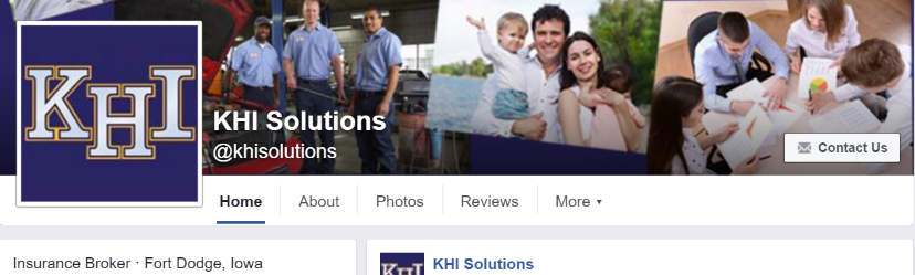 KHI Solutions' Business Facebook Page