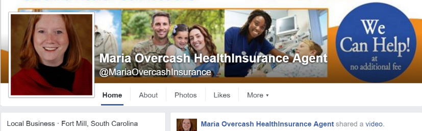 Maria Overcash - Indpendent Health Insurance Agent's Agent Facebook Profile