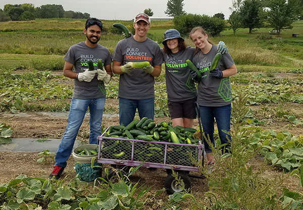 AgencyBloc team volunteering at The Iowa Gardening for Good Project