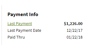 Payment info screenshot
