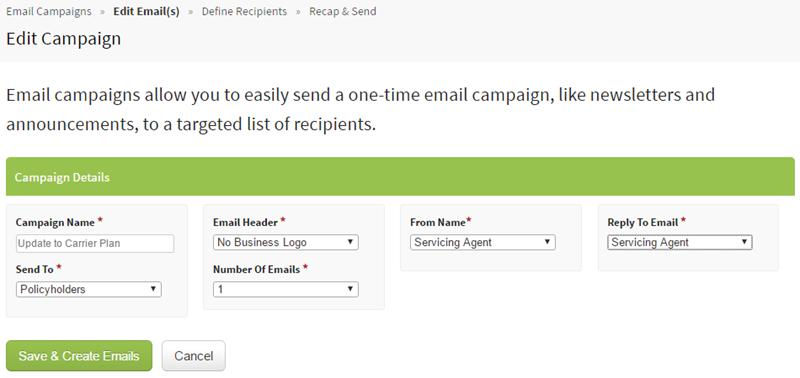 Set email details