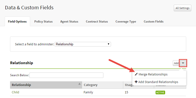 Select Merge Relationships