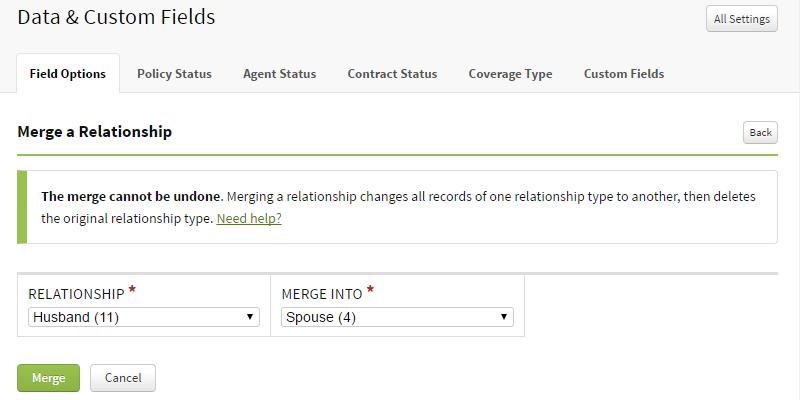 Merge Relationships