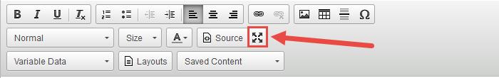 Maximize the Editor