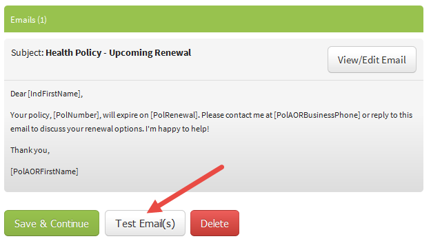 Test Emails