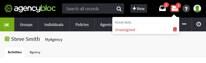 Unassigned BlocMail