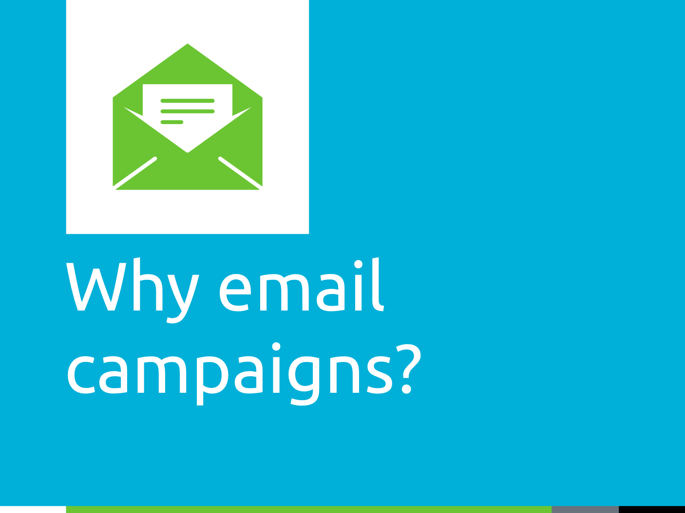 Email campaigns for open enrollment season