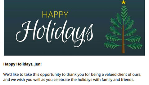 [Free Resource] Holiday Email Templates to Send to Your Clients, Prospects, Agents & Staff