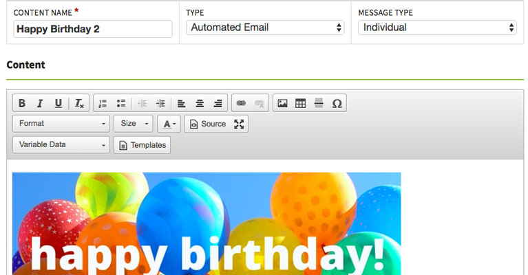 Happy Birthday Email